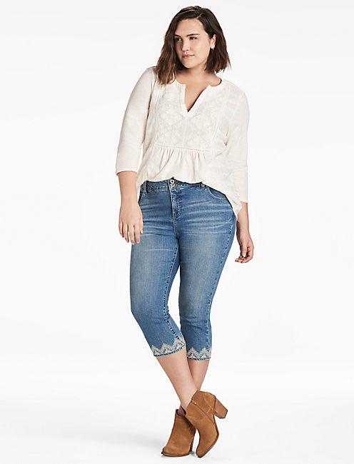 emma plus size jeans. 410 lucky emma crop GGHDMAV