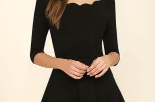 exclusive tip the scallops black dress FXYRWKG