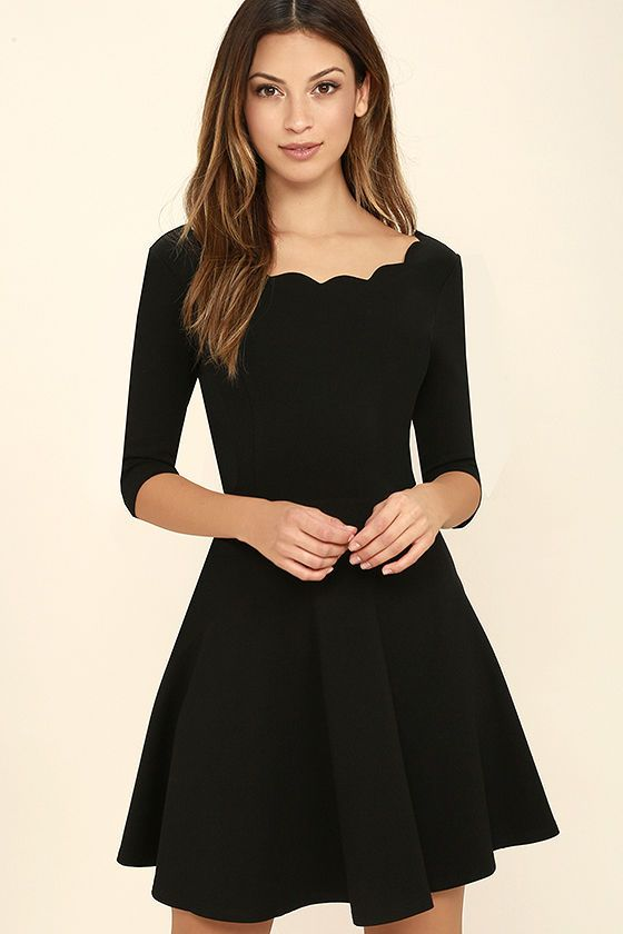 Black dress:  Looks Beautiful on Women