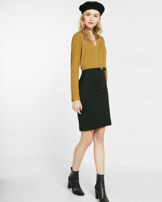 express view · high waisted notch front pencil skirt KKQONBI