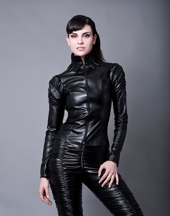 faux leather jacket made to order faux leather or pvc PKJEDBV