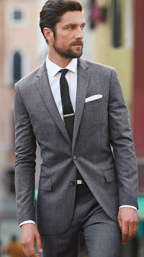 find this pin and more on things to wear. grey suit ... TVLNFYK