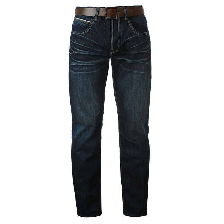 firetrap leather belt mens jeans GFNQAWN