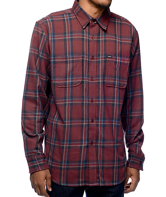 flannel shirts matix lincoln maroon flannel shirt DGMVSDO