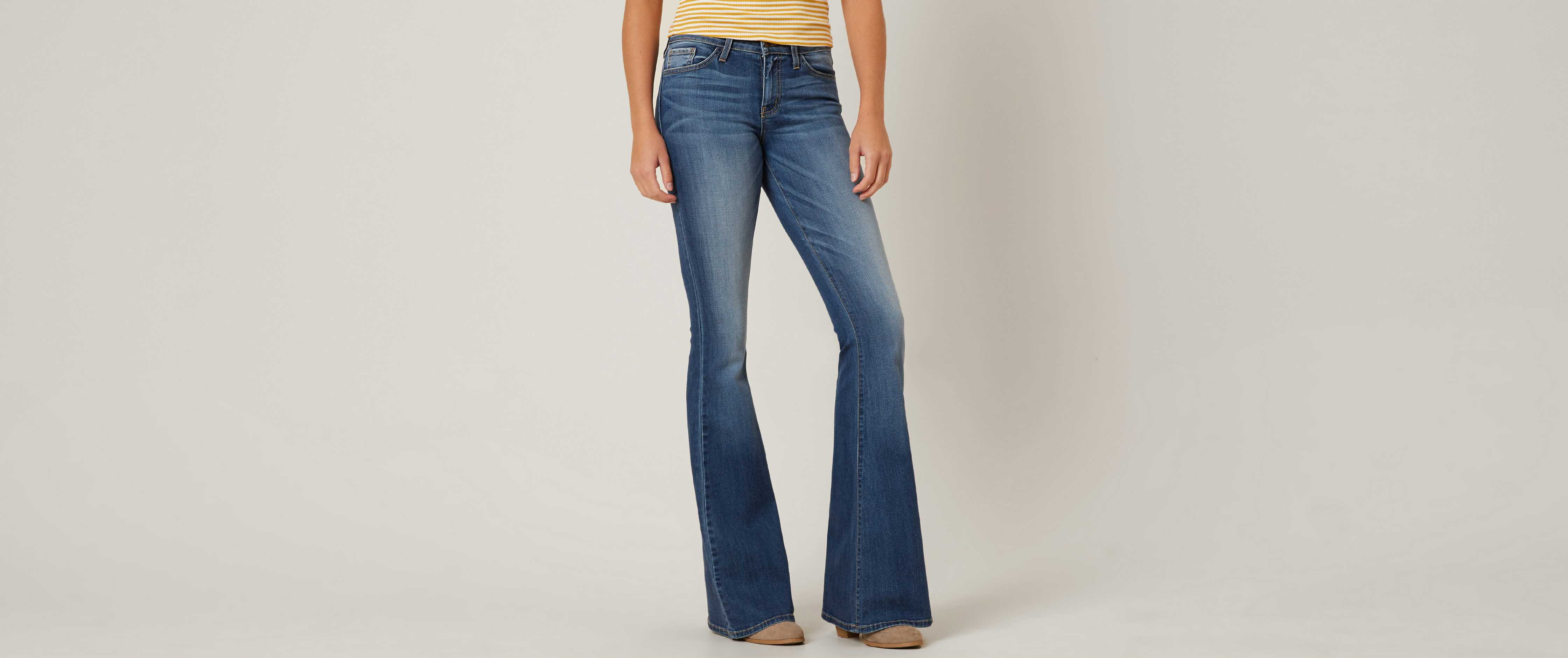 flare jeans flying monkey mid-rise flare stretch jean TVXRYPQ