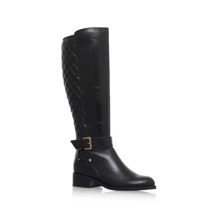 flat knee high boots polished. black flat knee boots MYJLSJX