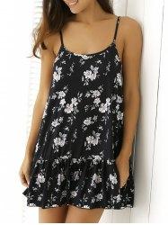 floral print flounced summer dress IBBOHRC