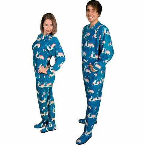 footed pajamas footie pajamas for adults with butt flap italian scooter fleece LIXOZKK