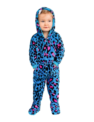 footed pajamas neon kitty infant hoodie chenille AYANJOW