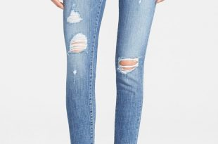 frame denim u0027le skinny de jeanneu0027 destroyed jeans (kitty hawk) | nordstrom ZARYESR