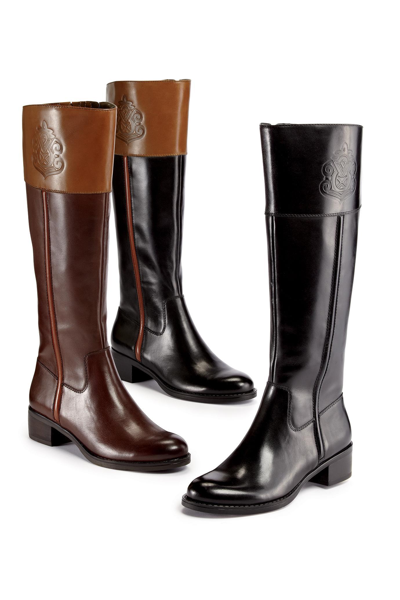 franco sarto boots embossed leather riding boots by franco sarto | chadwicks of boston FIIFWYA