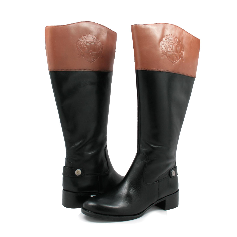 franco sarto boots franco sarto womenu0027s chip wide calf riding boots black/bannana VPGTIAV