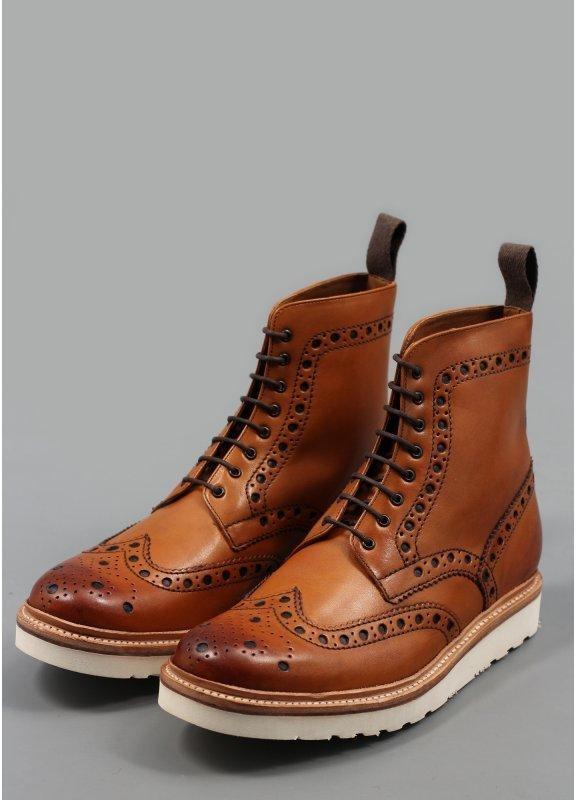 fred boots vibram brogue boots tan IJGNQPC