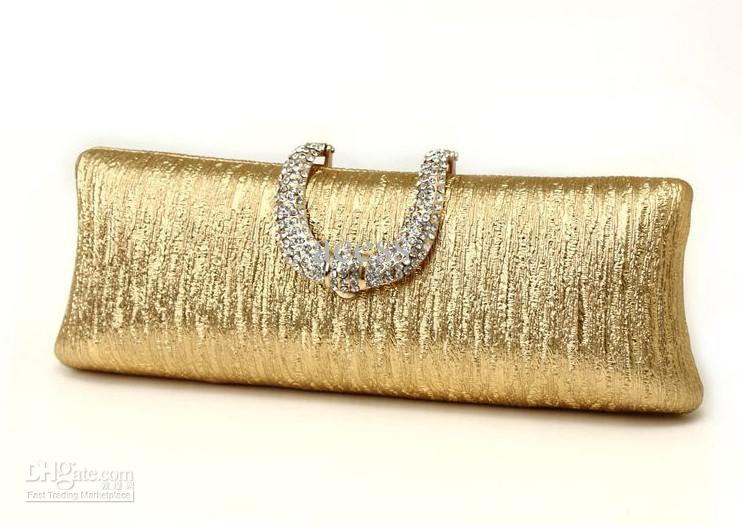 free shipping hasp box clutch bag gold evening handbag acet0152 TUDFPYL