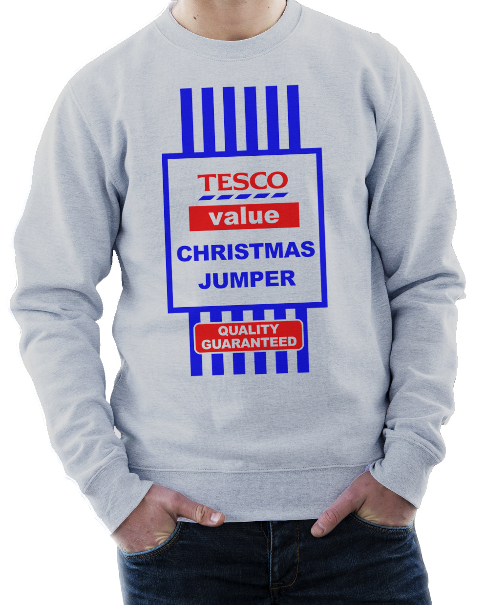 funny christmas jumpers tescou0027s value christmas jumper - sweatshirt funny xmas gift - 3 colours ZQVHWAO