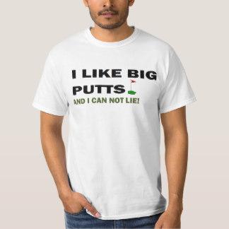 funny t shirts golf u0027i like big putts and i can not lieu0027 funny ... VYAWFCY