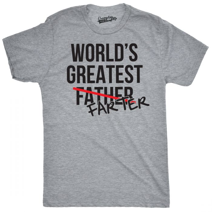 funny t shirts worldu0027s greatest farter farther t shirt | funny farting tee MPCRWIG