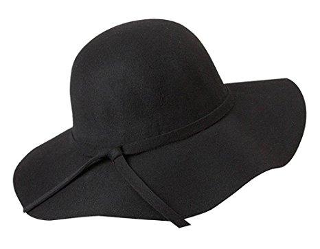 glamorous black wide brim diva style floppy hat HIDLJXZ