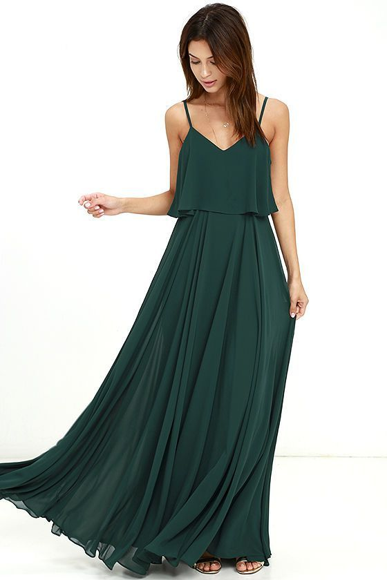 green dresses love runs high forest green maxi dress PCDDEBV