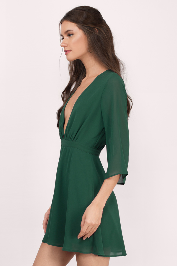 green dresses ... take it slow green skater dress ... NOWRDBJ