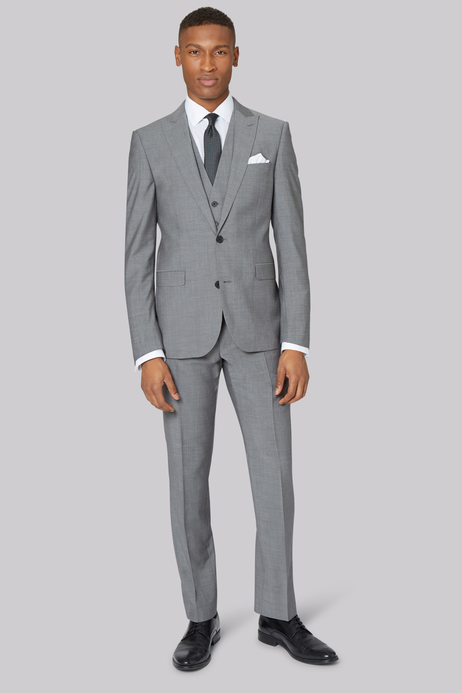 grey suit dkny slim fit light grey jacket MEGQAQK