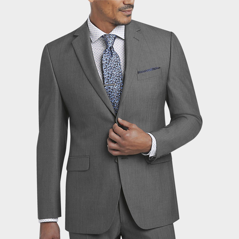 grey suit mens gray suits for all occasions, suits - perry ellis portfolio gray  herringbone slim DLZSNGI