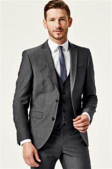 grey suit wool blend suit YKNGFBD