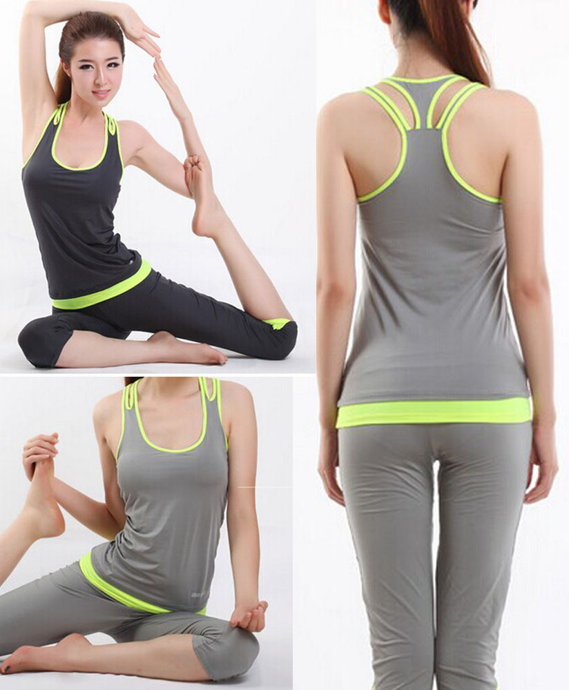 gym clothes for women new brand 2015 women yoga sets/fitness yoga clothing for women/training  sport suit gym clothes WMPMKJI