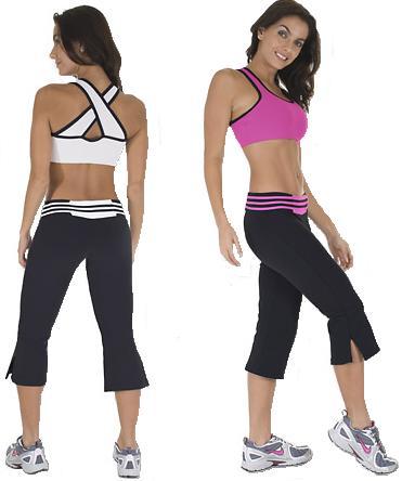gym clothes for women nina bucci dual capri-100940 women workout wear KFCURLW