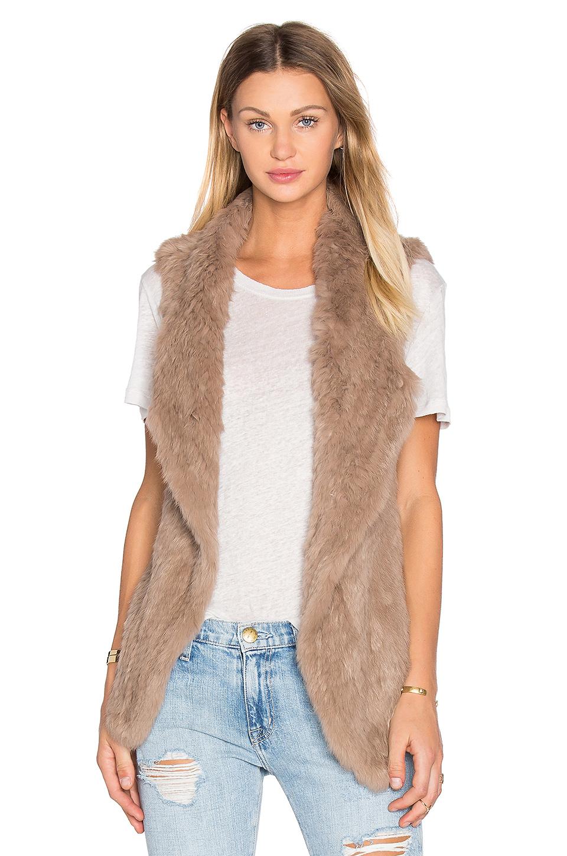 heartloom michi rabbit fur vest in fawn LZKXFUB