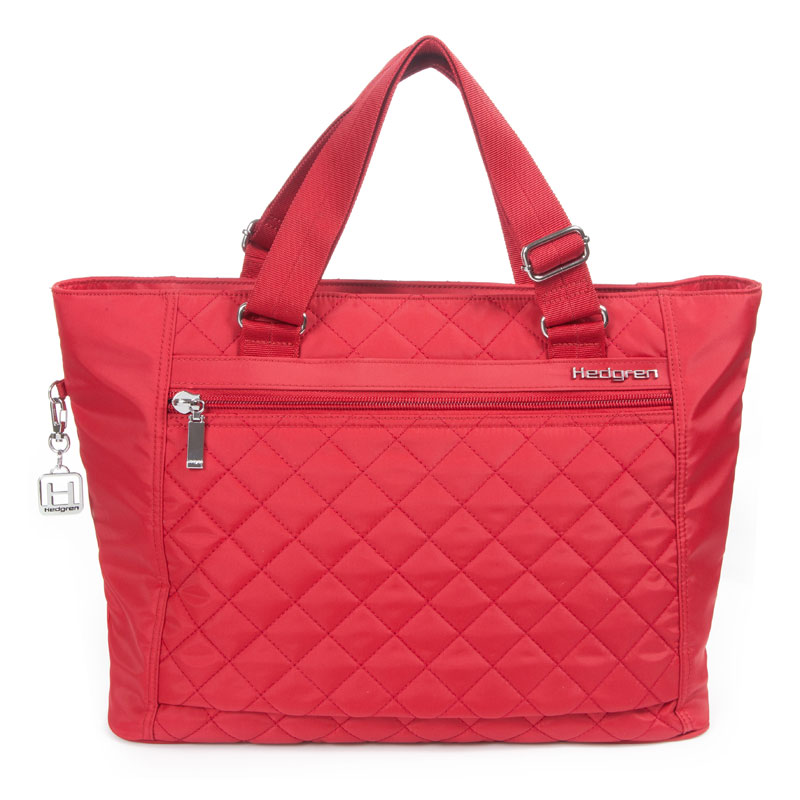 hedgren bags hedgren - diamond touch stella 13 inch laptop tote bag - red OREGRMW