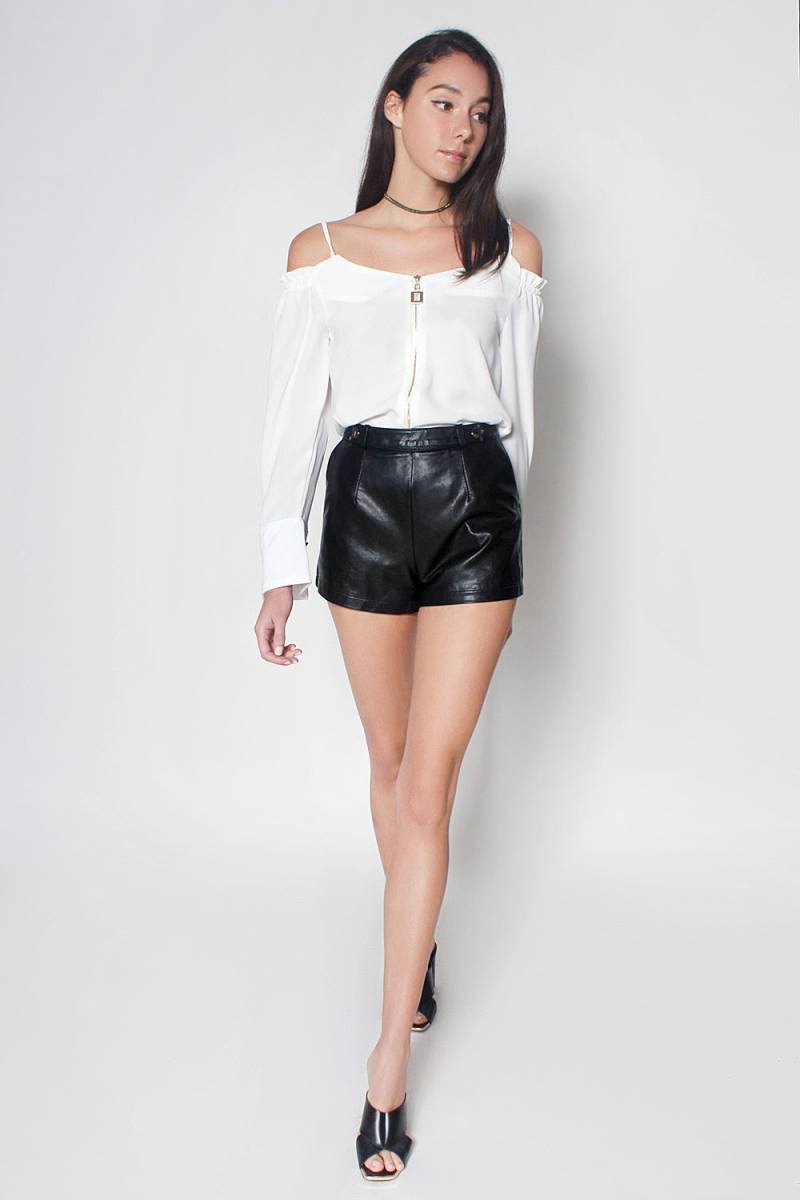 Enhance your overall personality with leather shorts