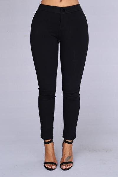 high waisted pants - black SVBZCUR