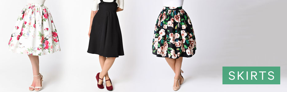 high waisted skirts retro pin up u0026 rockabilly skirts VELYTXV