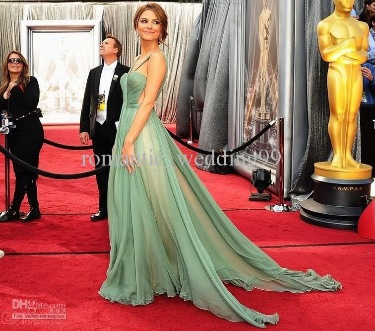 hot 84th oscar award sexy celebrity dresses pleated chiffon fashion red  carpet evening party TAREUNN