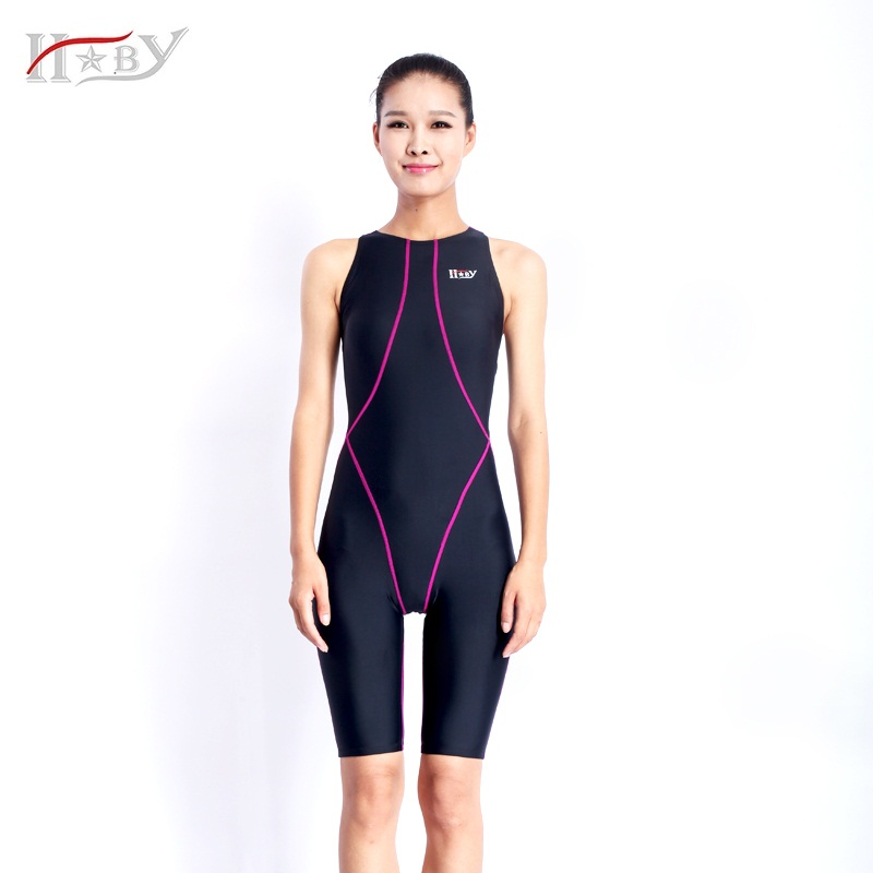 hxby swimsuits competitive swimming suits girls racing swimwear women  competitive knee lengthswim suit competition QDJHVEF