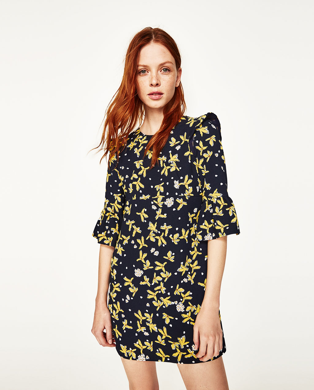 image 2 of floral print dress from zara BJXUUHO