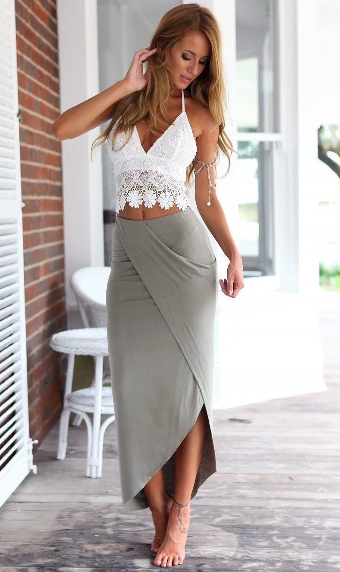 irregular lace halter split beach dress MSXTNYJ
