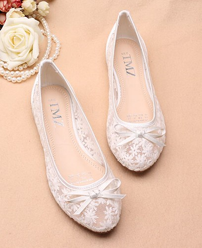 ivory see through lace flats shoes,lace bridal flats,wedding flats PGSZVEO