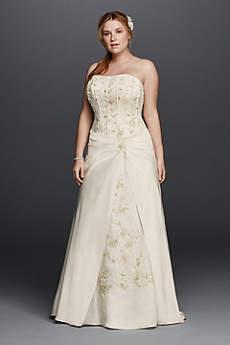 ivory wedding dresses long a-line formal wedding dress - davidu0027s bridal collection GJQNMRX