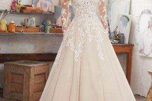 ivory wedding dresses morilee by madeline gardner u0027mairau0027 8110 | long sleeve wedding dress  featuring delicate crystal EXNXRNZ