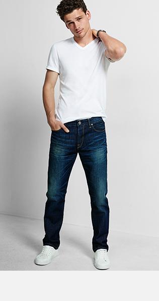 jeans for men menu0027s straight leg jeans NPGYHUJ