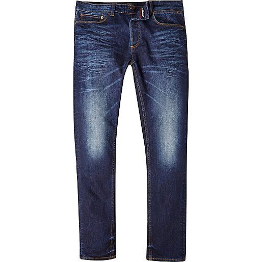 jeans for men mid blue wash sid skinny stretch jeans. u0027 AUWGLGD
