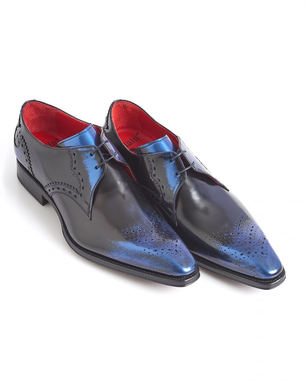 jeffery west shoes mens moon brogues, two hole navy blue shoes PIYNZQT