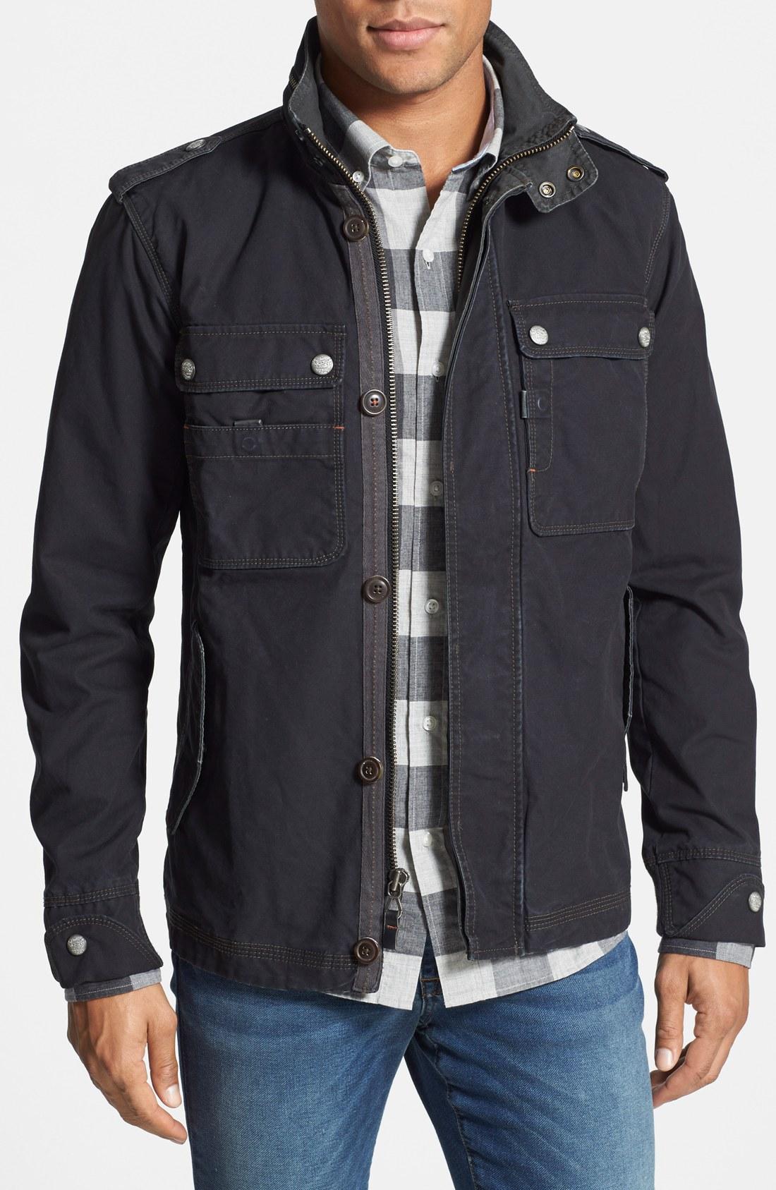 jeremiah u0027paxtonu0027 military jacket with stowaway hood   nordstrom YVSESTZ
