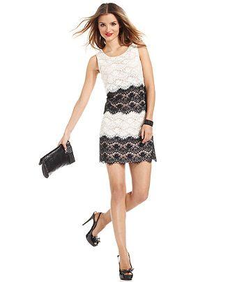 jessica simpson dresses jessica simpson dress, sleeveless tiered lace cocktail dress - dresses -  women - macys TXYGPIX