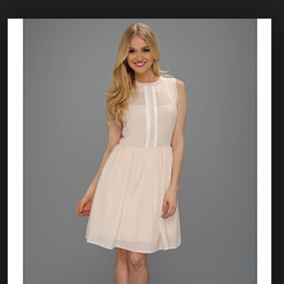 jessica simpson dresses - jessica simpson fit and flare pale pink dress SOXNBCZ