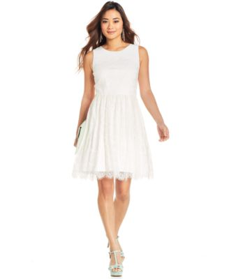 jessica simpson dresses jessica simpson sleeveless lace cutout dress WMVHDCU
