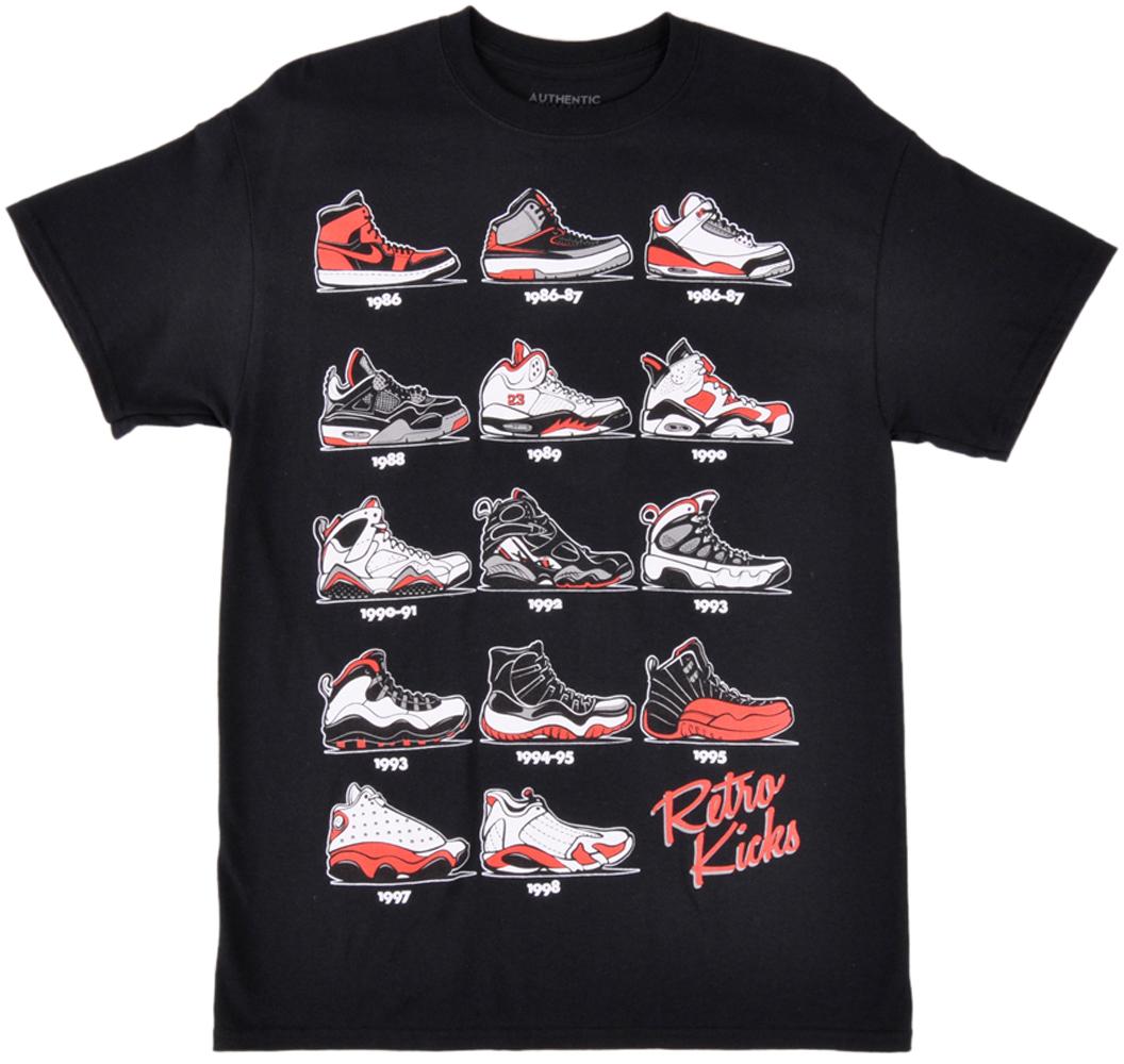 jordan t shirts jordan sneaker parody t-shirt retro kicks breds top mens streetwear black  red NCQIRXV