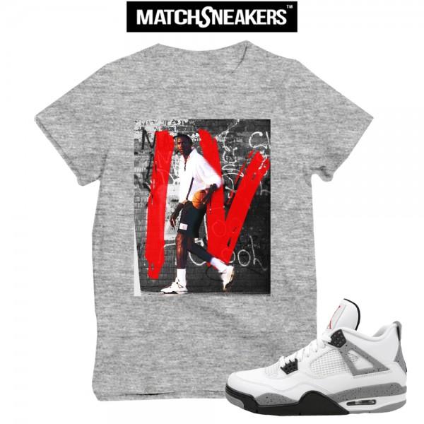 jordan t shirts match cement 4 retros UNMEDXW